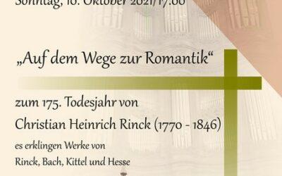 Orgelkonzert am Sonntag, 10. Oktober 2021 um 17 Uhr